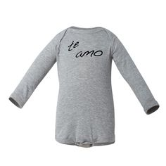 Apericots - Apericots Te Amo (Spanish for I Love You) Cute Baby Long Sleeve Bodysuit, $13.99 (http://www.apericots.com/apericots-te-amo-spanish-for-i-love-you-cute-baby-long-sleeve-bodysuit/)