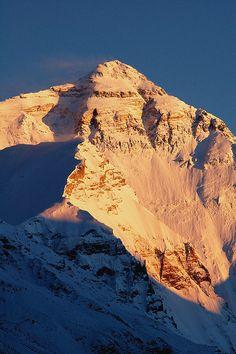 Sunset over Mt Everest, Tibet by iancowe, via Flickr