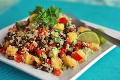 Confetti Quinoa Salad with Lime Vinaigrette, totally out of my comfort zone. maybe it would be a good way to try something new!