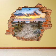 Adesivo da parete 3D paesaggio marino | Saldi su Lesara