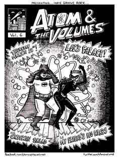 Fat Batman in VOL.6 Lee's Palace . Love the old Fat Bat Man and sexy Cat Woman. ATOM & THE VOLUMES show poster by Jamie Goodman