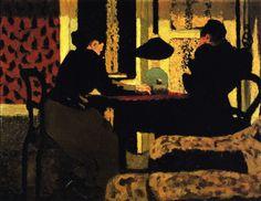 Edouard Vuillard - Deux femmes sous la lampe, 1892