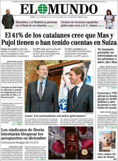 """""""El 61% de los catalanes cree que Mas y Pujol tienen o han tenido cuentas en Suiza"""""""