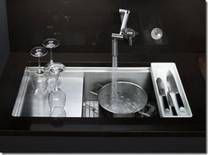 Ok, how cool is this?  Kohler Stages Kitchen Sink 2