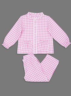 Pijama Niña, Girl Payama , La Piyama, a Mika Cuadros Rosa Girl Dress Patterns, Baby Patterns, Baby Girl Dresses, Baby Dress, Little Girl Outfits, Kids Outfits, Childrens Pyjamas, Kids Nightwear, Unicorn Dress