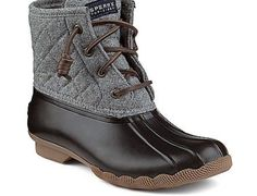 Sperrys gray duck boots