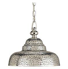 Industrial Loft Modern Rustic Pierced Metal Pendant Lamp | Kathy Kuo Home