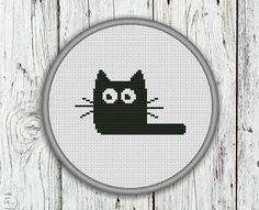 Black Cat Counted Cross Stitch Pattern  PDF by CrossStitchShop, $3.00