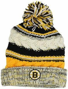 NHL Boston Bruins Women's CCM Cuffed Knit Hat With Pom, One Size, Black/yellow/white adidas. $17.99