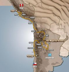 Dakar 2013 Map - Peru + Argentina + Chile