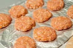 Pork Burger Patties before baking