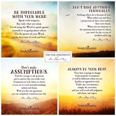 The Four Agreements... / simple reminders