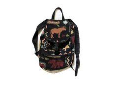 vintage 1990s backpack small northern exposure bear moose pine novelty print