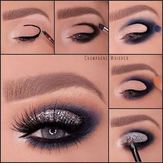 Cut Crease Smoky Eyes with Glitter   Makeup Mania