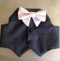 Charcoal Grey Dog Tuxedo by YvettesLittleShop on Etsy