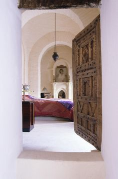 One suite has a small private pool in a small private courtyard, off which lie a bedroom and separate study, an entrance hall, and a bathroom that happens to be equipped with an enormous hammam - a traditional Moroccan steam room.