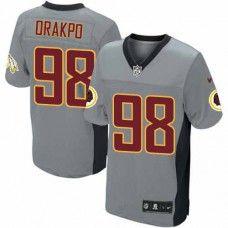 Elite Mens Nike Washington Redskins #98 Brian Orakpo Shadow Grey NFL Jersey