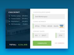 #dailyui Day 002 - Checkout/Credit Card