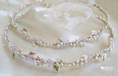 Stefana Greek Wedding Crowns Pearl Orthodox Stefana Rough Pearls Crowns/Tiaras/Stephana