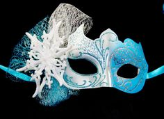 Frozen Princess Masquerade Mask  Snow Queen by MadameMerrywidow, $50.00