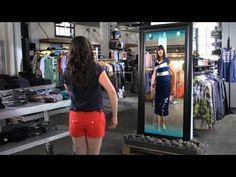 Superhandig voor als je geen zin hebt om te passen;) Kinect for Windows Retail Clothing Scenario Video