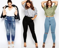 Shapely Chic Sheri: Currently Craving: Plus-Size Jeans for Fall - Curvy Jeans for women - Ideas of Curvy Jeans for women Plus Size Blog, Look Plus Size, Plus Size Fashion Blog, Curvy Girl Outfits, Plus Size Outfits, Casual Outfits, Fashion Outfits, Casual Wear, Fall Fashion