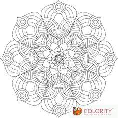 Abstract Mandala Adult Coloring Page Digital By