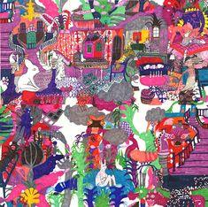 Monika Forsberg   Felt Tip Fantasy Lands print pattern