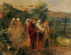 Maria, sister of Lazarus, meets Jesus who is going to their house - Nikolai Ge - WikiPaintings.org