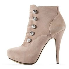 Vince Camuto Jenks Bootie (40 AUD) ❤ liked on Polyvore featuring shoes, boots, ankle booties, heels, zapatos, sapatos, fawn, suede booties, high heel ankle booties and high heel boots