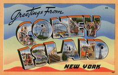 Greeting from Coney Island, New York