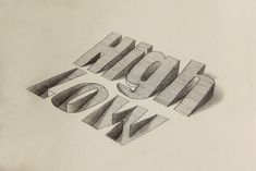 More 3D Typography by Lex Wilson – Inspiration Grid | Design Inspiration