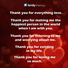 I Love You Nanay Quotes : Thank you for everything love. Thank you for making me the happiest ...