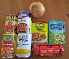"""The Country Cook: Taco Soup {Slow Cooker}...I think Debbie M made this """"chili"""", it is the best I ever had! eat it with shredded cheese, sour cream and Frito scoops!"""