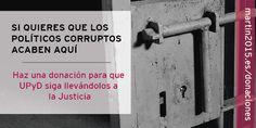 A la cárcel con todo los #politicuatres, gracias a @upyd y Andrés Herzog por su trabajo