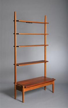 William Watting, Birch and Teak Shelving unit for A. Mikael Laursen 1950s.
