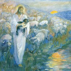 love this art piece by Minerva Teichert's Rescue of the Lost Lamb.....LSP bought me this for a birthday to hang in our home...Pat