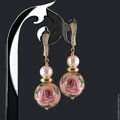 Unusual Jewelry, Simple Jewelry, Bead Earrings, Crystal Earrings, Earrings Handmade, Handmade Jewelry, Beaded Jewelry, Beaded Bracelets, Bridesmaid Earrings