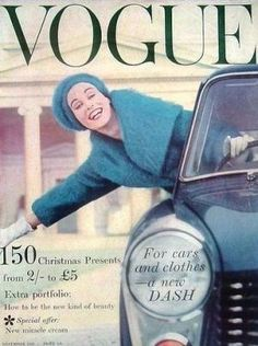 Vintage Vogue magazine covers - mylusciouslife.com - Vintage Vogue UK November 1958.jpg