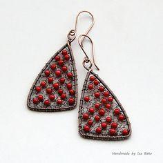 Polka Dot Earrings by izabako, via Flickr