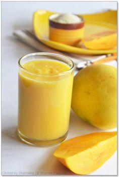 Mango Milkshake | Sharmis Passions