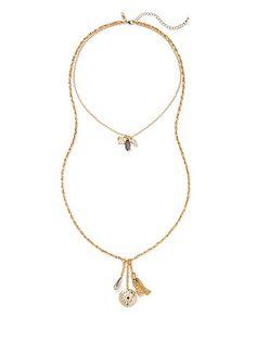 Double-Row Pendant Necklace  - New York & Company