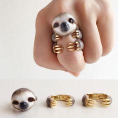セットでつけるとかわいさ倍増!指の上のファンタジーな世界。動物たちのアイディア指輪