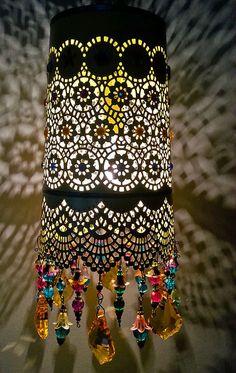 Sunny Boho Hanging Lantern by NidoBeatoCreations on Etsy, $115.00