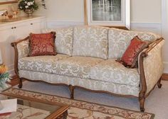 Louis XV Daybed 3 Seater  4