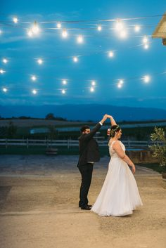 TOAST WEDDINGS| Photography | First Dance|   Romantic dances under lights at twilight. Such a beautiful quiet moment.