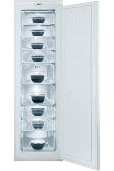 CDA Extra Tall In-column Integrated/Built-In Freezer - White Kitchen Display, Diy Kitchen, Door Brackets, Traditional Kitchen, Classic White, Integrity, Freezer, Storage Spaces, Locker Storage