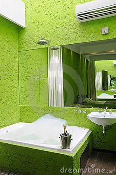 Photo about Interior of modern bathroom with jacuzzi full of bubbles. Image of relax, bubbles, green - 7434751 Kitchen Memes, Jacuzzi, Color Tile, Colour, Shower Units, Simple Wallpapers, Cute Kitchen, Room Wallpaper, Bathroom Renovations