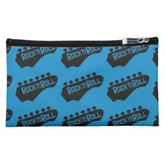 Rock and Roll Guitar Pattern Cosmetics Bag