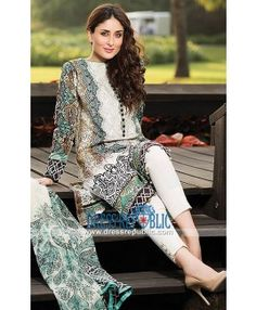 Kareena Kapoor Crescent Lawn Collection 2015 By Faraz Manan